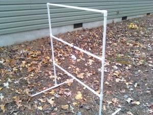 ladder toss assembled (golf ball toss)