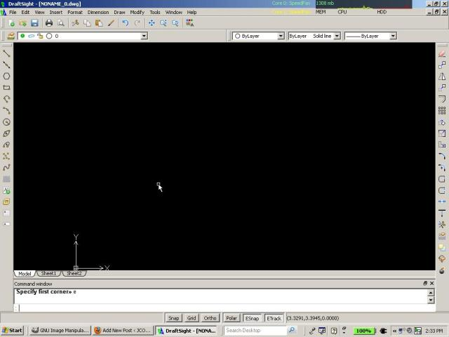 draftsight opening screen