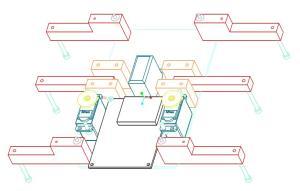 pegleg hexapod 3d model