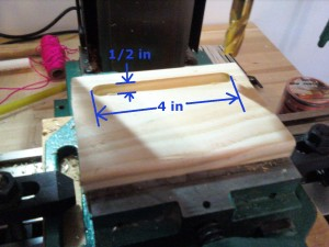 milled wooden env2 stand with dimensions