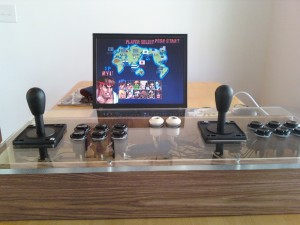 my MAME setup playing SFII