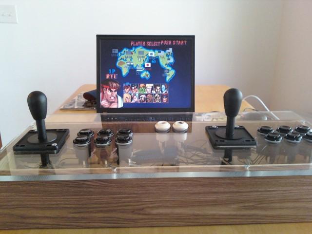 my MAME setup playing SFII