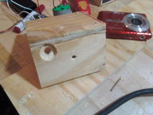 wood assembly for air freshener camera trigger